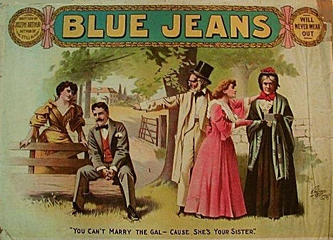Vintage blue jeans advert!
