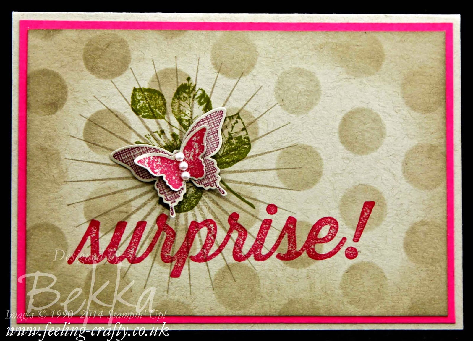 Kinda Eclectic Surprise Card - check this blog for lots of great ideas