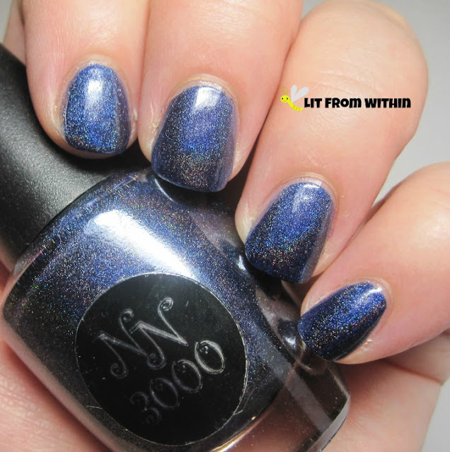 This polish applied beautifully, but interestingly