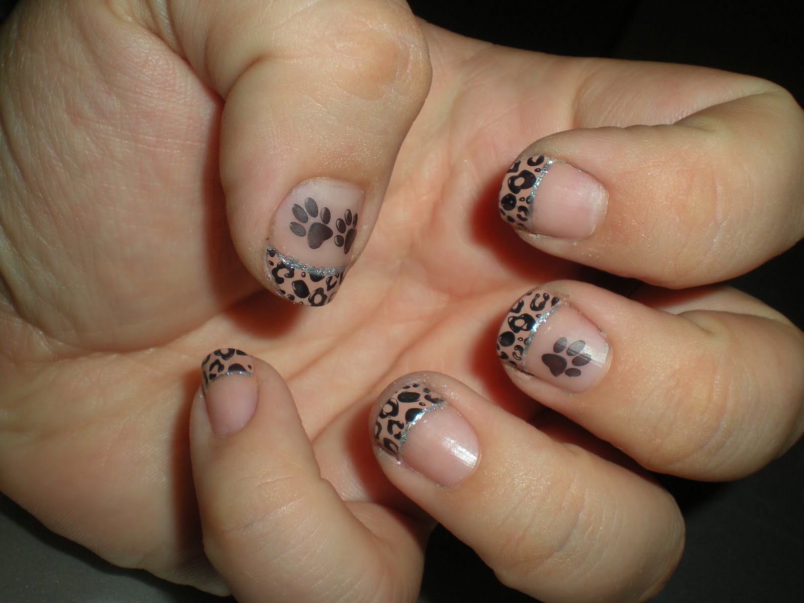 nageldesign leopard - Nail Art Leopard with colourgel