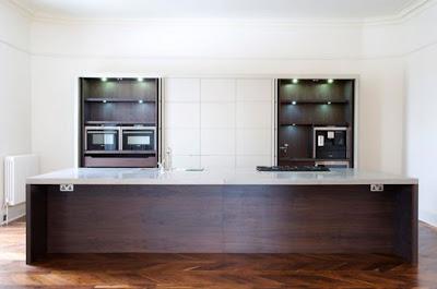 cocina para elegante apartamento