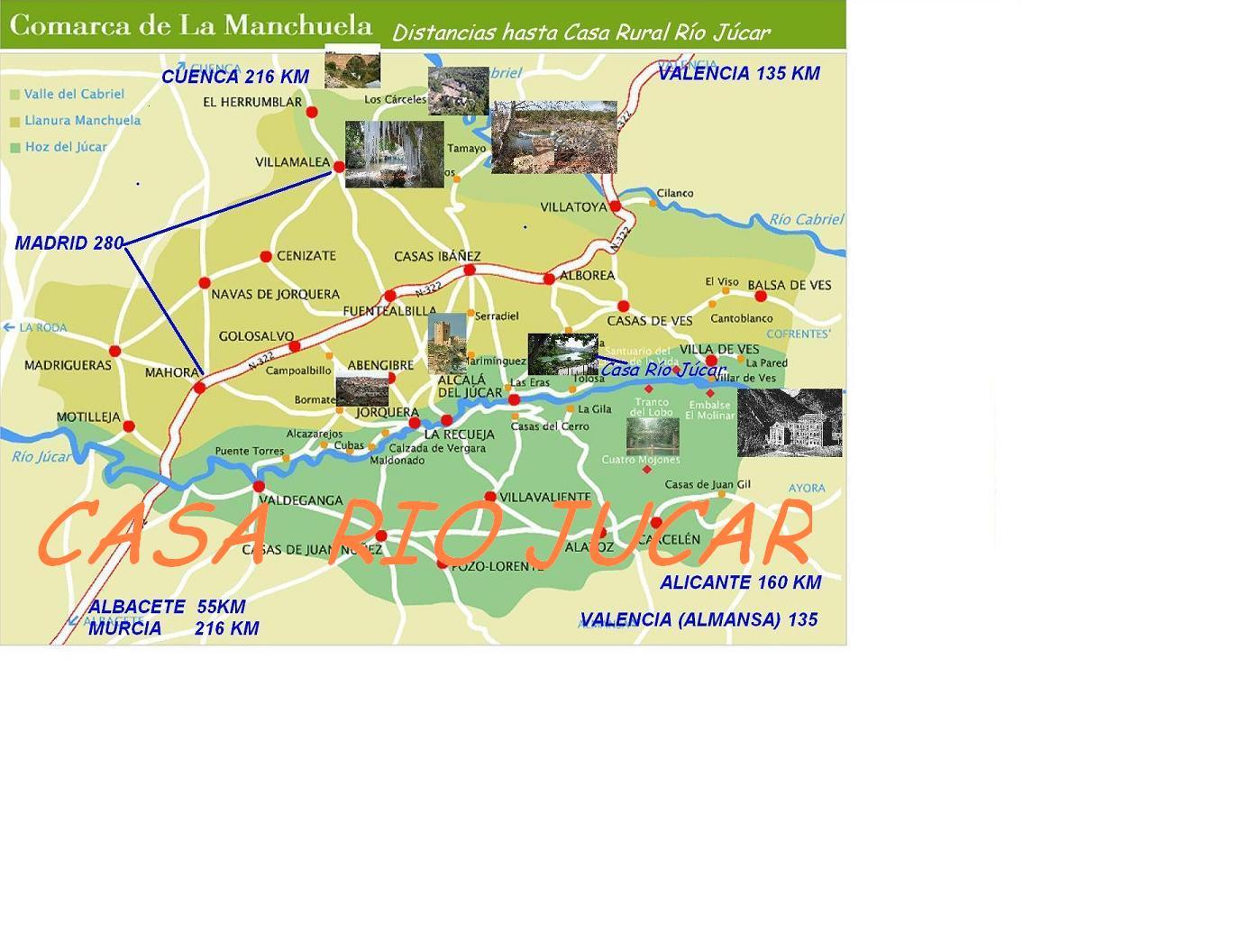 ALBACETE- LA MANCHUELA. Lugares cercanos a Casa Río Júcar (blogs ...