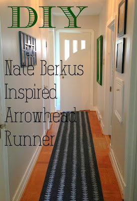 DIY Nate Berkus Inspired Arrowhead Runner - How to make your own arrowhead runner for a fraction of the cost in only a couple of hours!  Really easy!