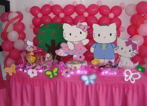 Decoracion Hello Kitty Fiestas Infantiles ~ Colorida decoraci?n de Hello Kitty en 3D
