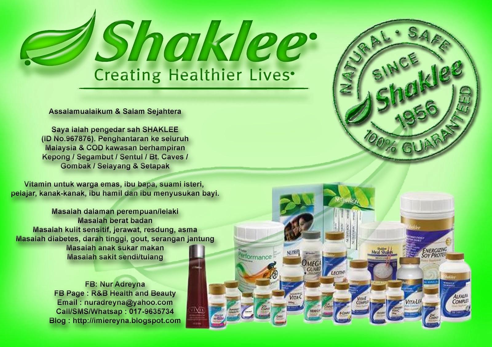 Jom Order Shaklee :-)