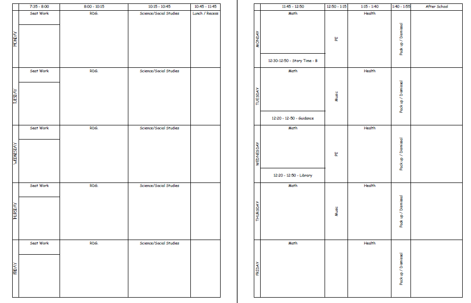 life in first lesson plan template take 2