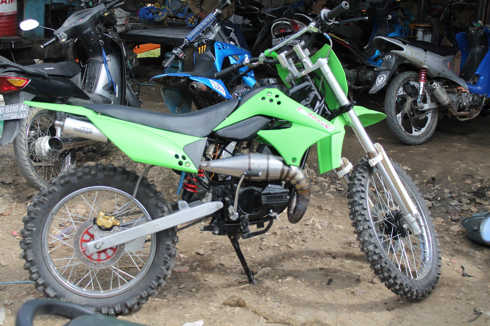 contoh motor rx king modif trail