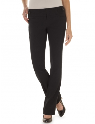 stretchy black work pants - Pi Pants