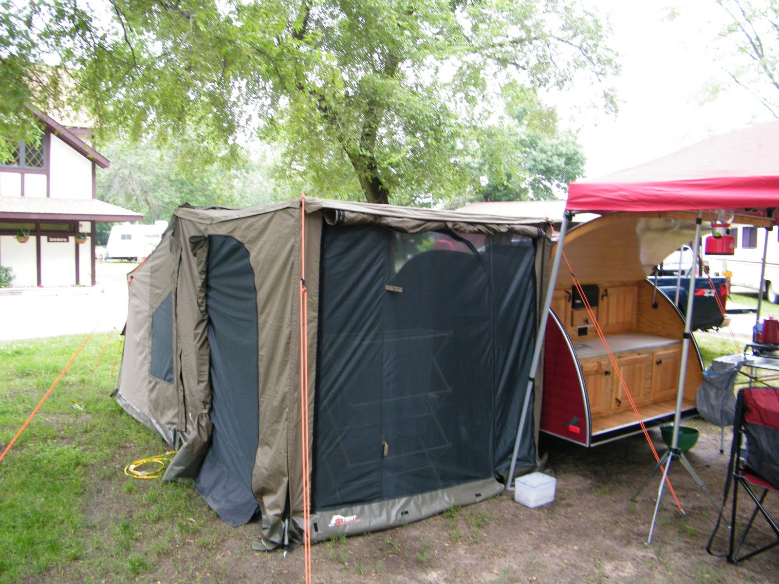 Teardrop Trailer C&ing with a 30 Second OzTent & Family Tent Camping : Teardrop Trailer Camping with a 30 Second OzTent