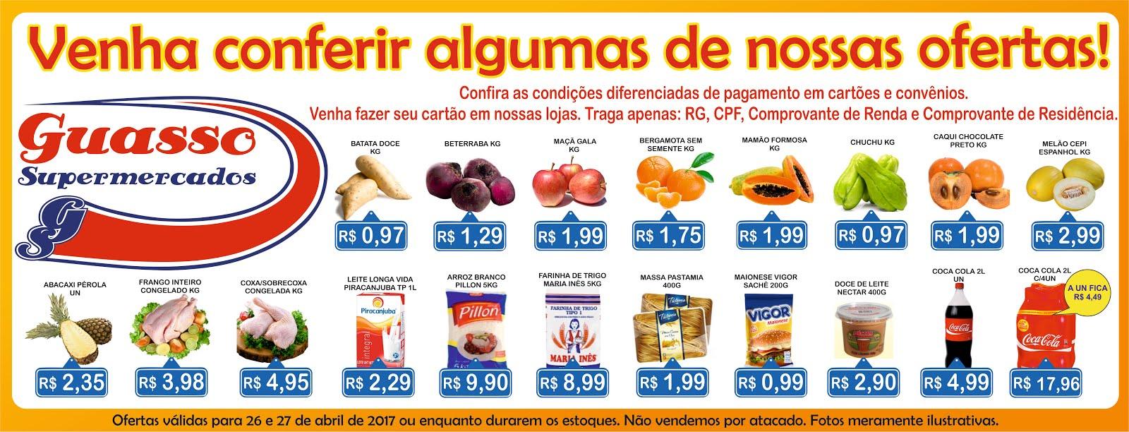 Ofertas da Rede Guasso de Supermercados
