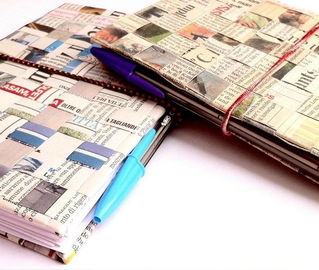 come costruire un'agenda riciclando un quotidiano
