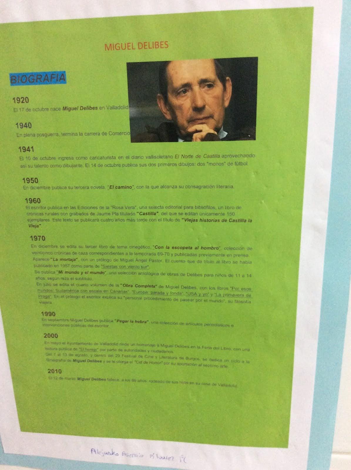 Grandes escritores decoran nuestros pasillos gracias a nuestros grandes alumnos.