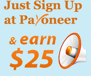 Earn 25 $ with Payoneer