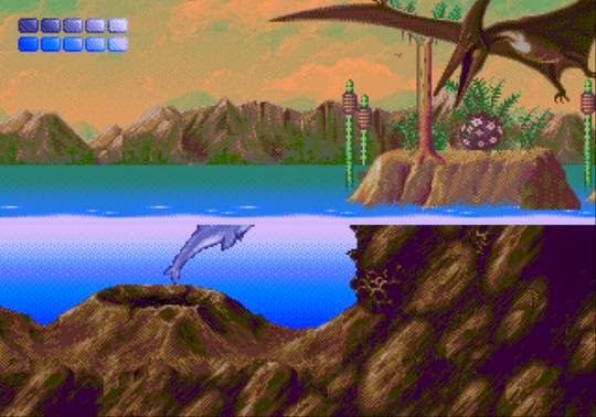 Ecco the dolphin genesis game screenshot pterodactyl