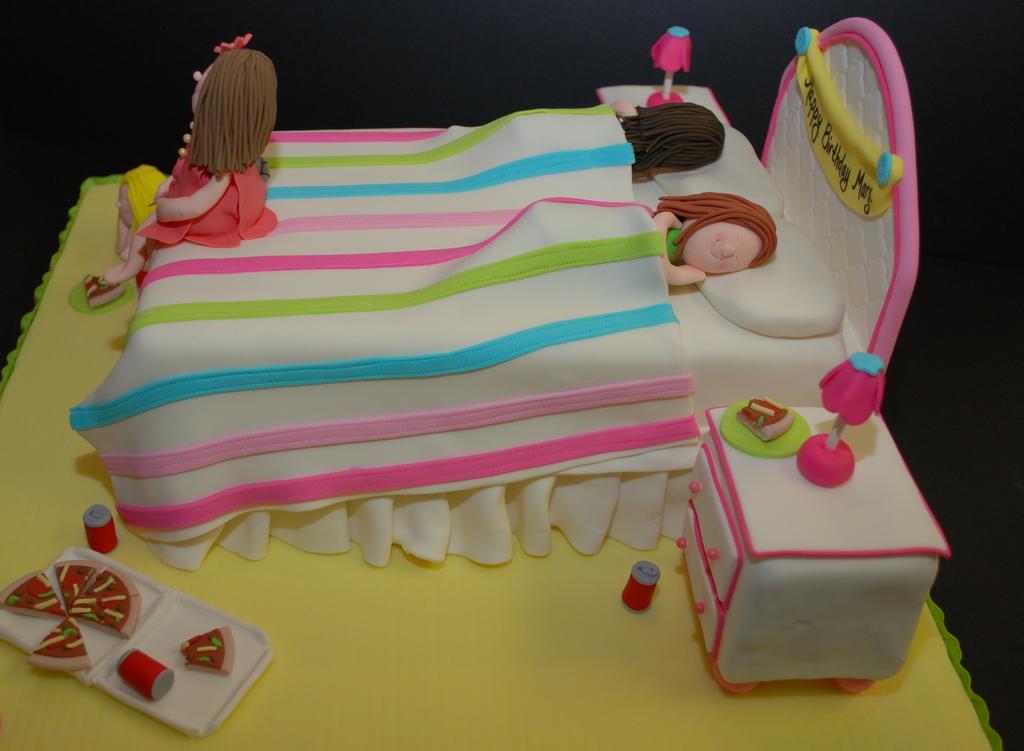 The Bakery Next Door Slumber Party Birthday Cake