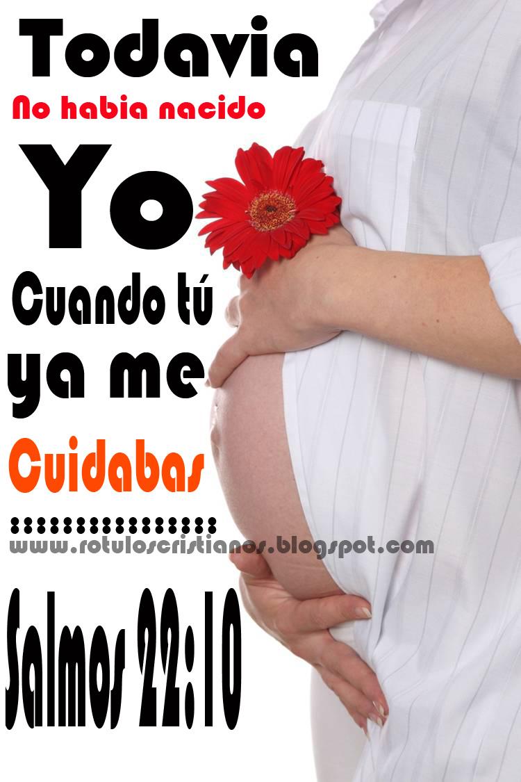 Tarjetas de Mujeres Embarazadas - Salmos 22:10 ~ Imagenes cristianas