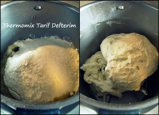 Step by step photographed Turkish bagel Acma recipe with Thermomix