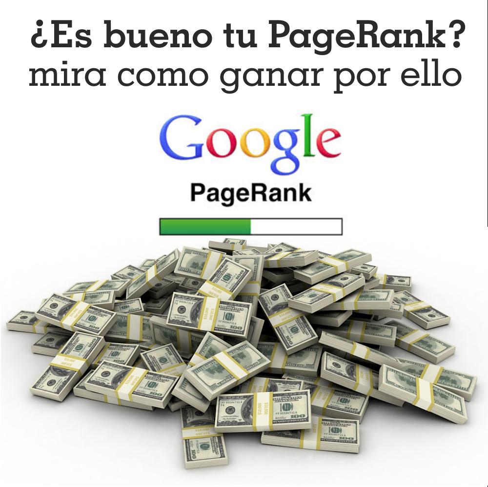 Gana un monto fijo por el PageRank de tus webs y blogs