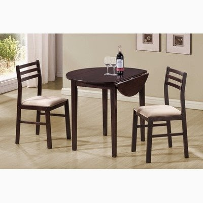 monarch specialties 3piece dining set