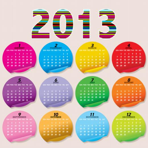 5 creativos calendarios 2013 totalmente editables y gratuitos