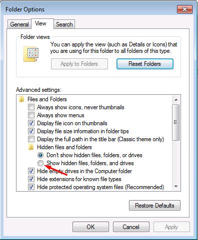 Cara Melihat File/folder yang Tersembunyi atau Terhidden Tanpa Aplikasi