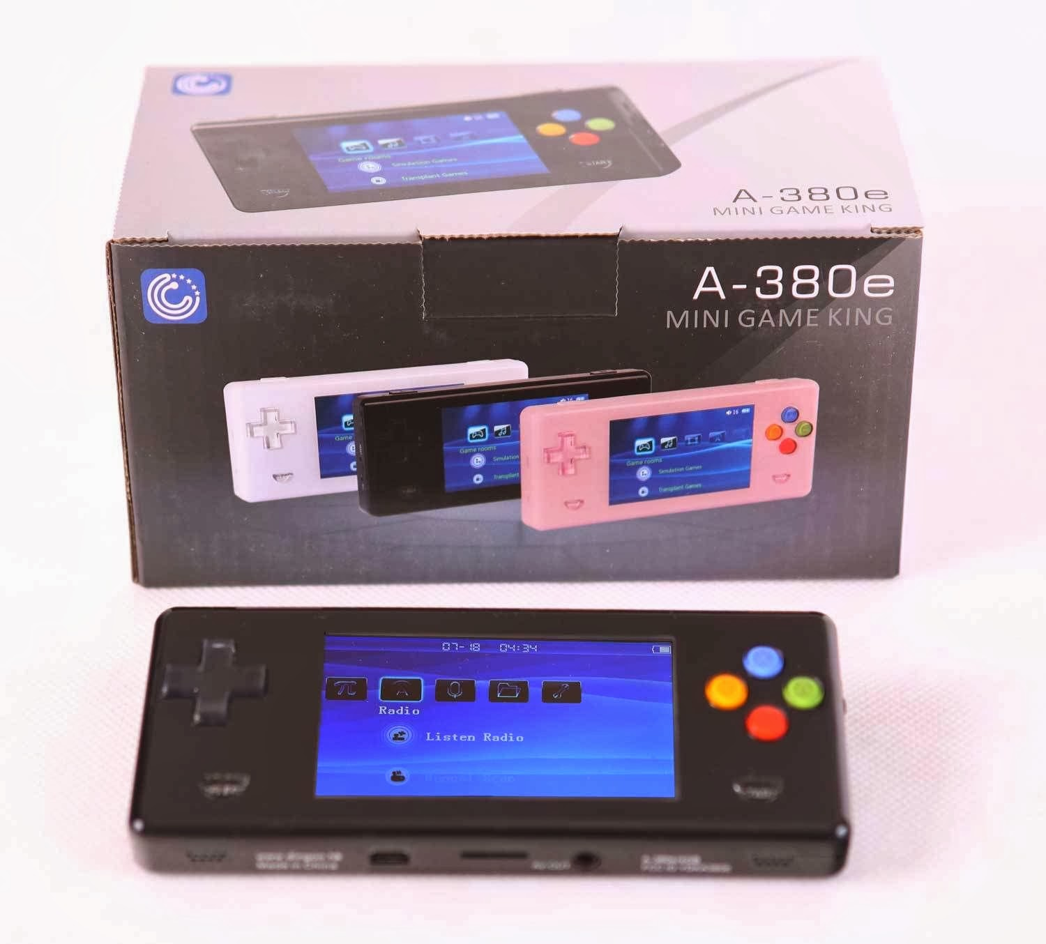 New Black Dingoo A380E Handheld Emulator game console mini game king A320 330+