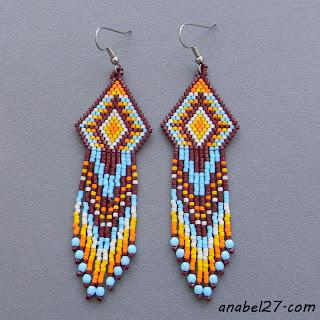 seed bead earrings - beaded jewelry