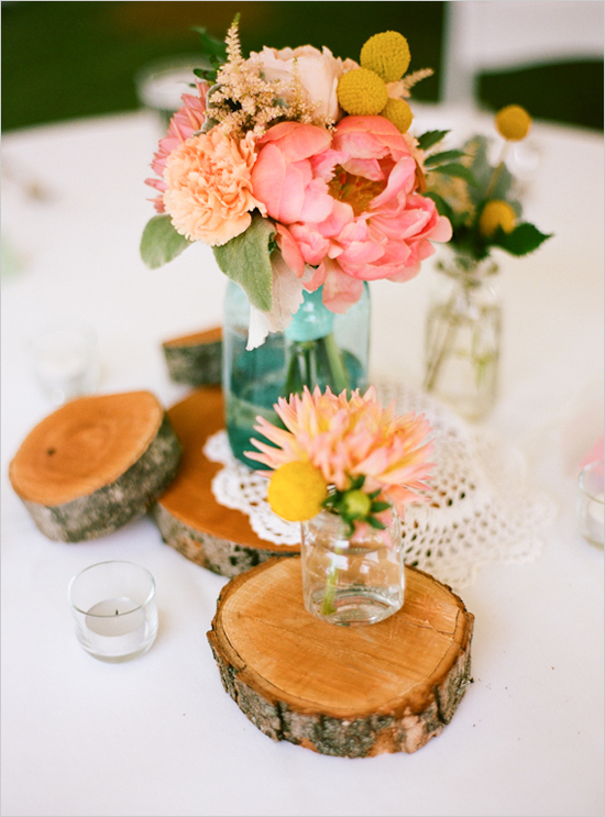 Weddings Wedding Stuff Wedding Table Centerpieces Mason Jars