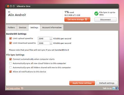Ubuntuone control panel qt Ubuntu 12.04 precise pangolin