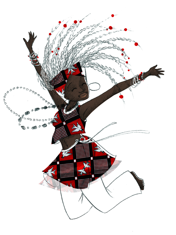 Sel illustratrice freelance danse africaine - Africaine dessin ...