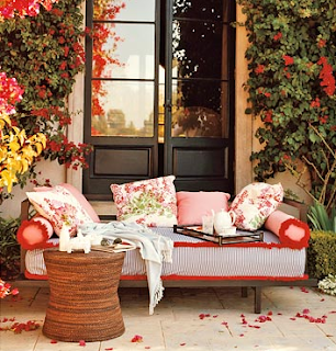 Outdoor Coral Furniture with Coral Bouganvilla