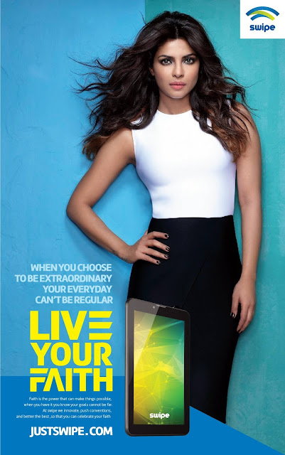 "Swipe set to launch a 360° marketing campaign ""Live Your Faith"", featuring the Bollywood Diva Priyanka Chopra"