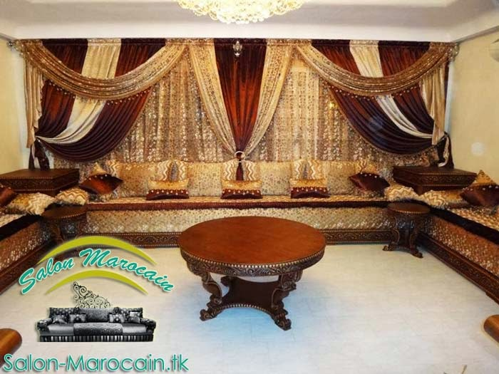Salon marocain dimachk d coration salon marocain moderne - Table de salon marocain ...