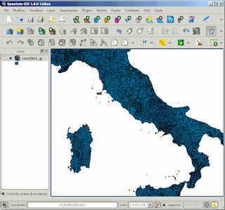 Mappa comuni italiani shp