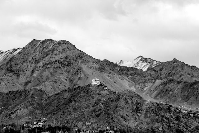 Beautiful Leh Ladhakh Mountains black and white photography