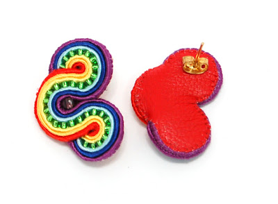 kolczyki sutasz soutache earrings 47a