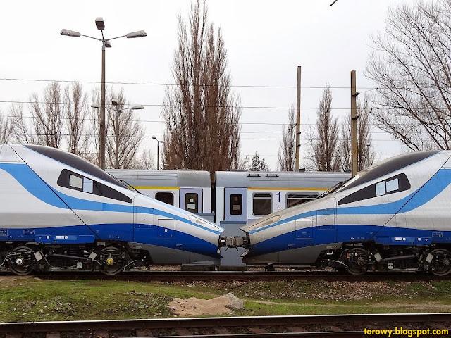 "Polskie ""Pendolino"" ED250-001 i ED250-002 na Olszynce."