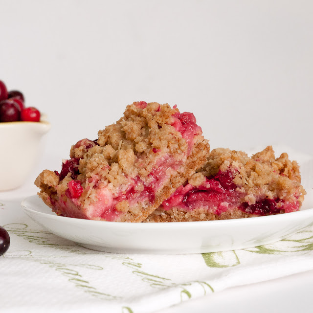 cranberry, apple, crumble, oatmeal, bars, squares