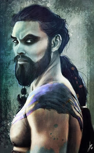 khal Drogo retrato - Juego de Tronos en los siete reinos