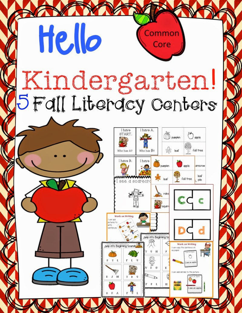 http://www.teacherspayteachers.com/Product/Kindergarten-Fall-Literacy-Centers-Common-Core-Aligned-1360964