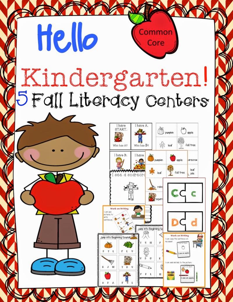 http://www.teacherspayteachers.com/Product/Kindergarten-Fall-Literacy-Centers-Common-Core-Aligned-1360964