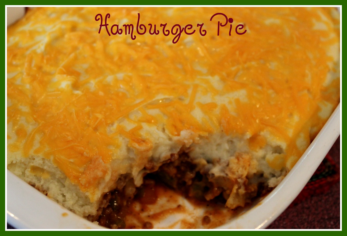 Hamburger Pie!