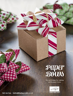 6 Easy Steps to Make a Paper Bow - download the instructions here.