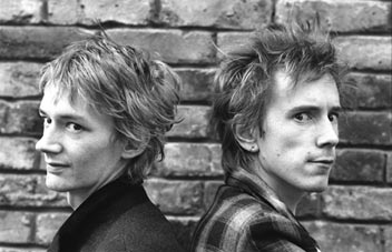 John Lydon and Keith Levine 1981 PiL
