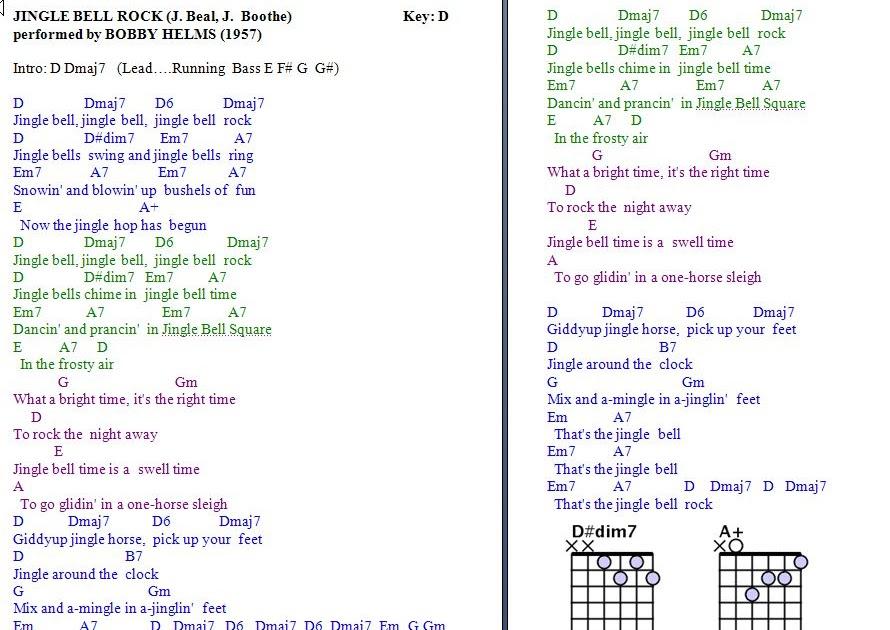 Guitar jingle bells chords
