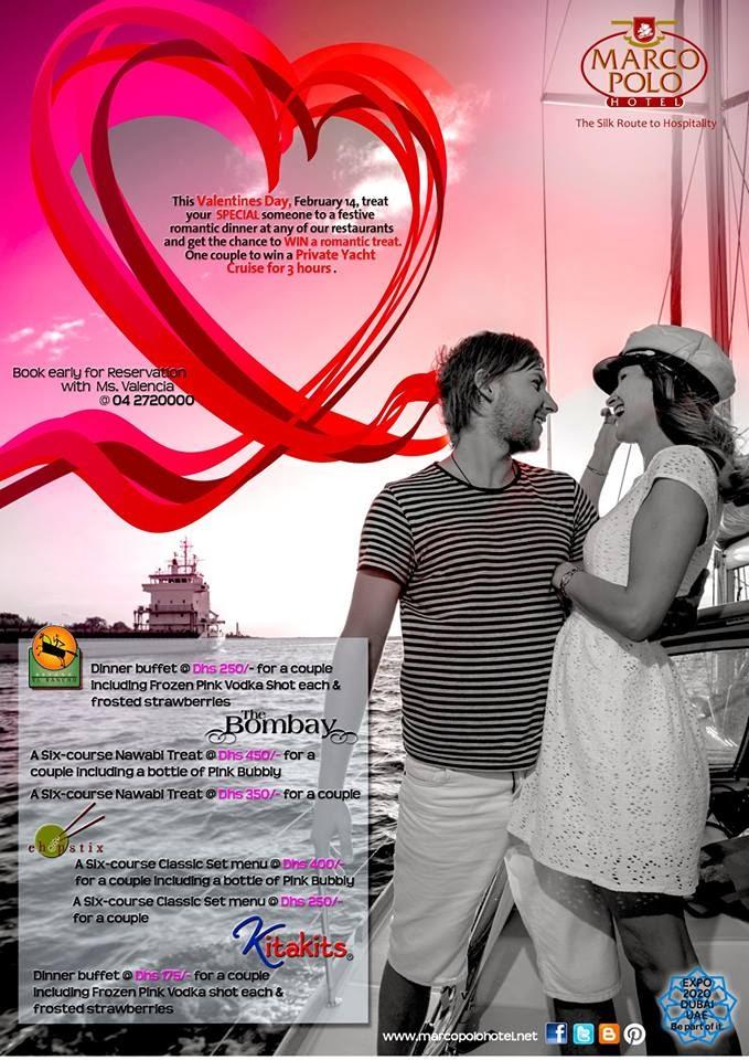 Marco Polo Hotel Dubai: Valentine Treats at Marco Polo Hotel