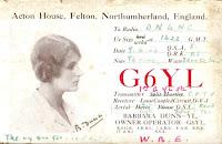 G6YL QSL Card, 1933