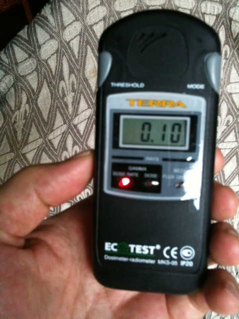 Results of Geiger Counter Use in Tokyo