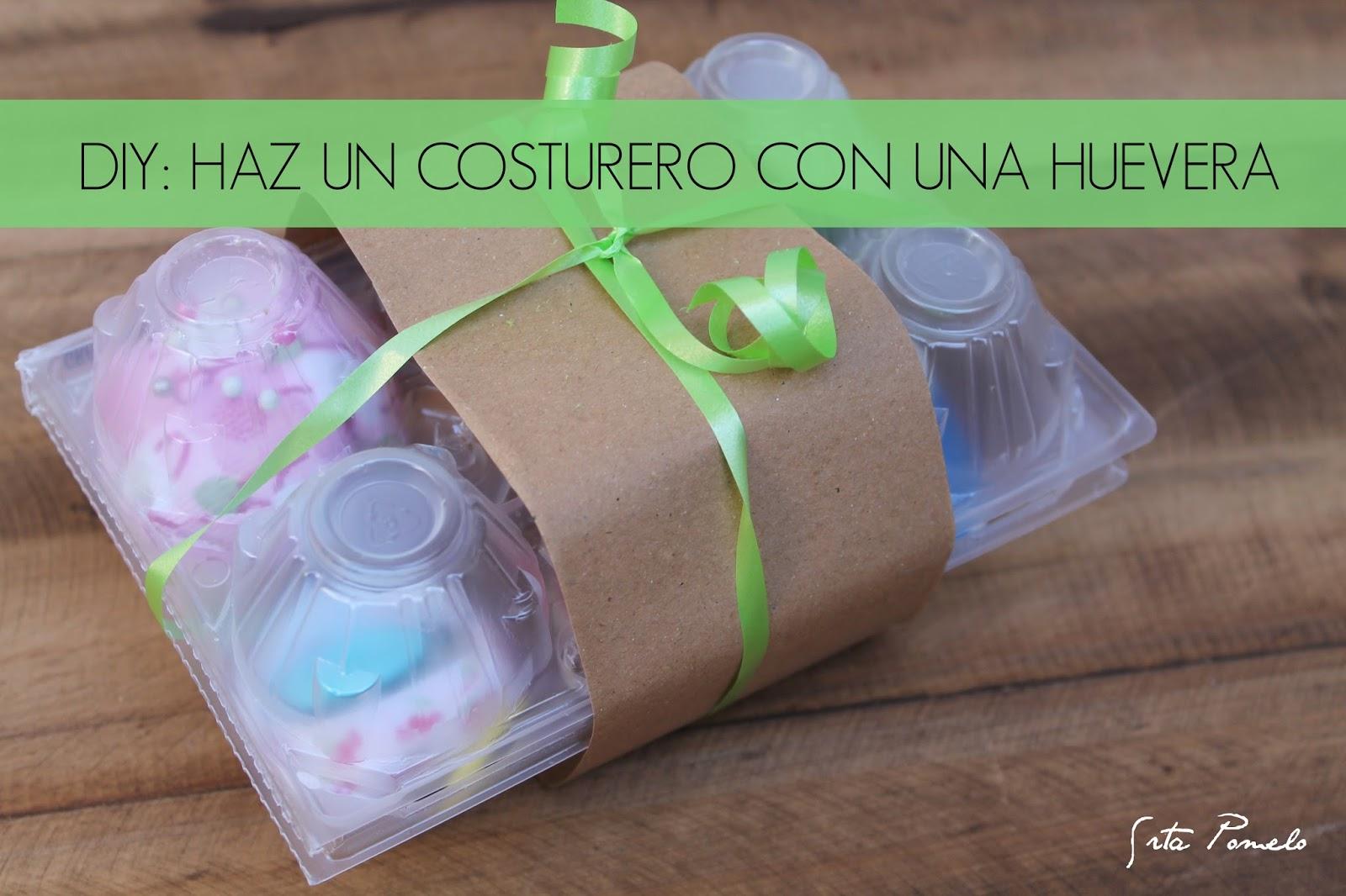 DIY Costurero huevera