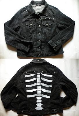 diy ćwieki szkielet katana gothic rock